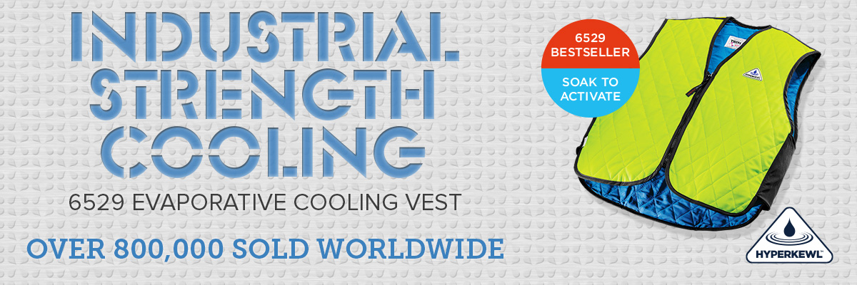 Industrial strength cooling vests